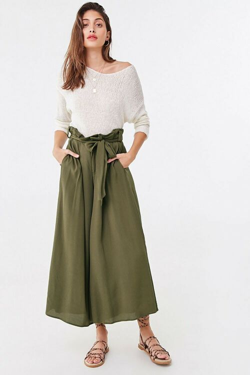 Belted Paperbag Culottes, image 4