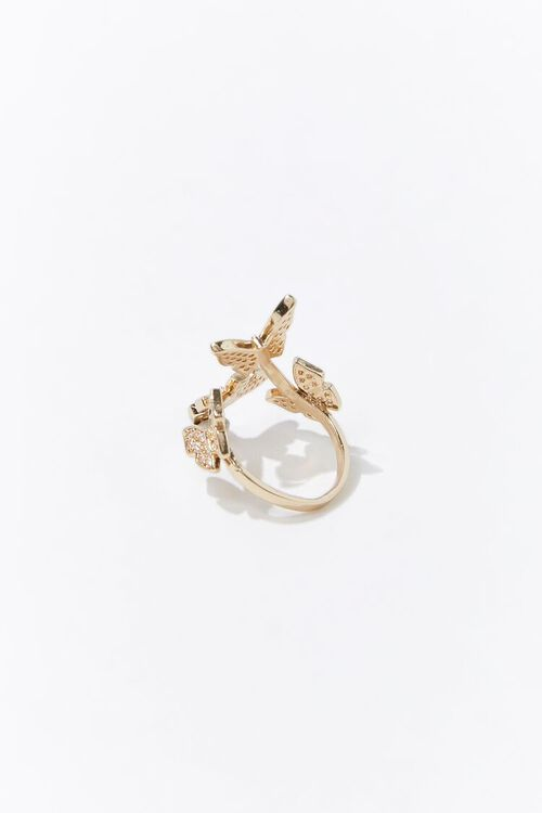 Butterfly Charm Cocktail Ring, image 2