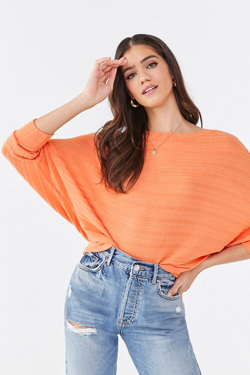 Ribbed Dolman Top, image 1