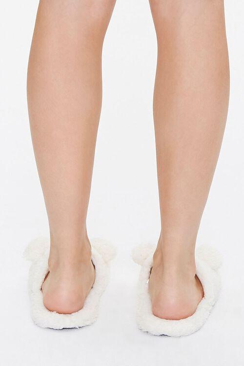 Faux Shearling Teddy Bear Slippers, image 3
