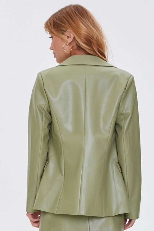 Faux Leather Double-Breasted Jacket, image 3