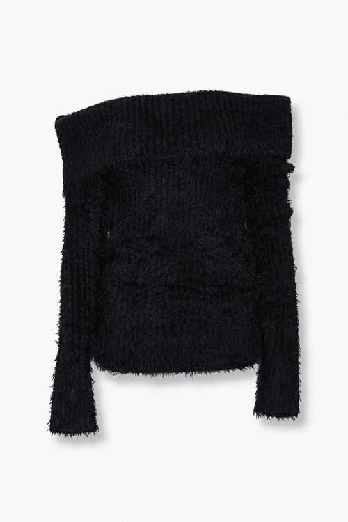 Foldover Off-the-Shoulder Sweater, image 1