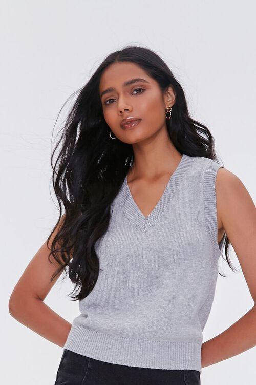Heathered Sweater Vest, image 1