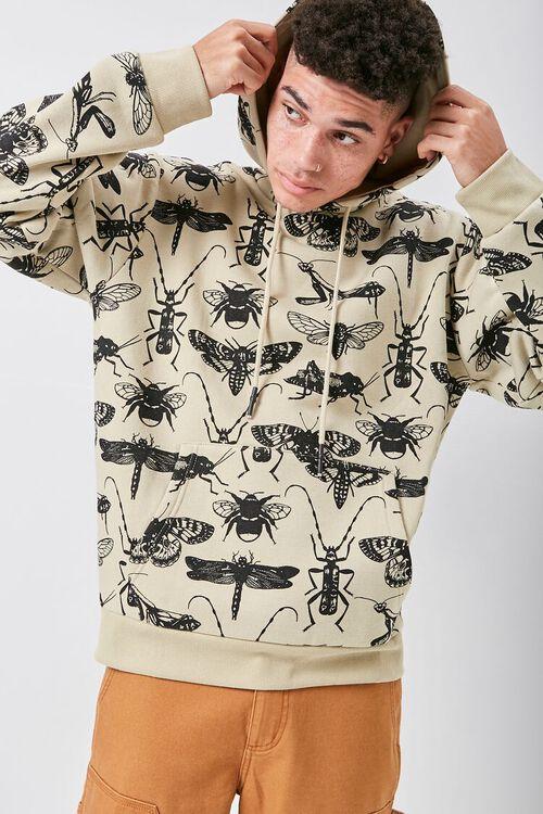 Insect Print Fleece Hoodie, image 1
