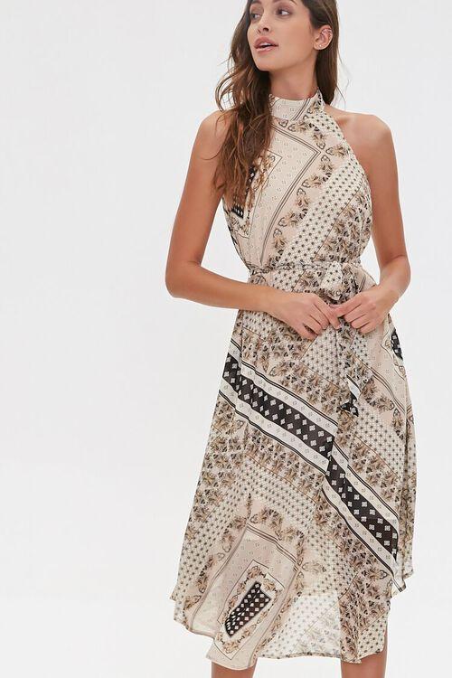 Ornate Patchwork Print Dress, image 2
