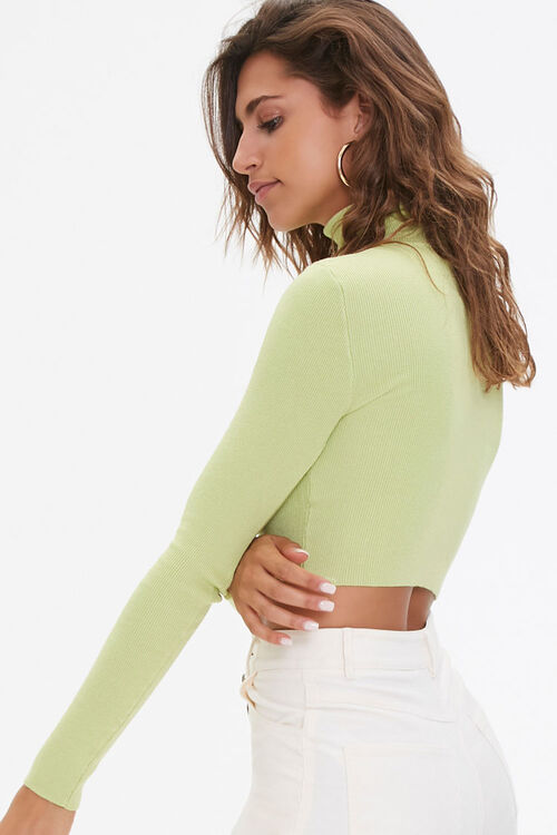 Cropped Turtleneck Sweater, image 2
