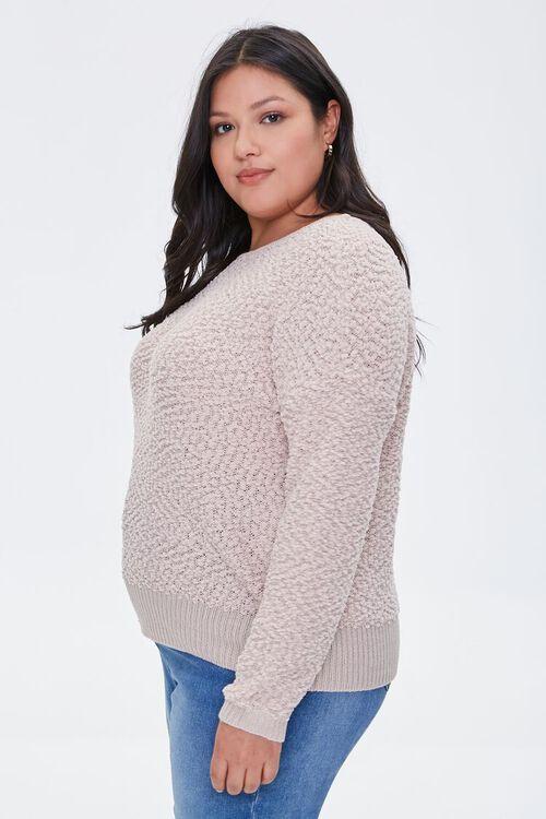 Plus Size Popcorn Knit Sweater, image 2