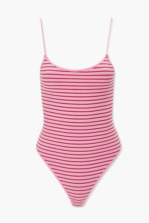 Striped Thong Bodysuit, image 1