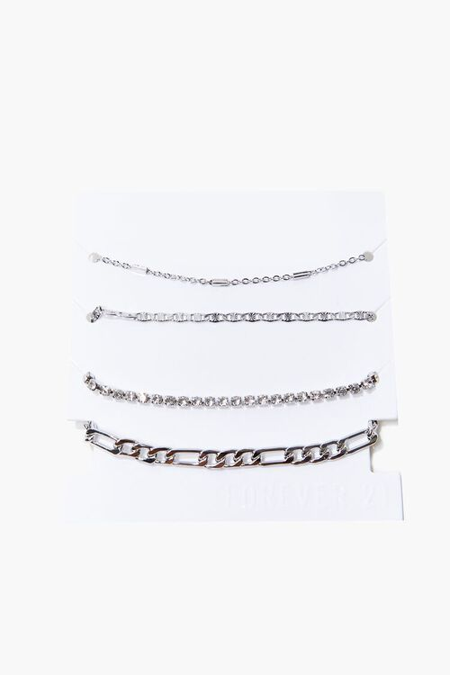 High-Polish Chain Bracelet Set, image 2