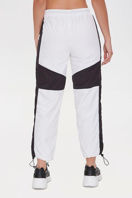 BLACK/WHITE Colorblock Windbreaker Pants, image 4