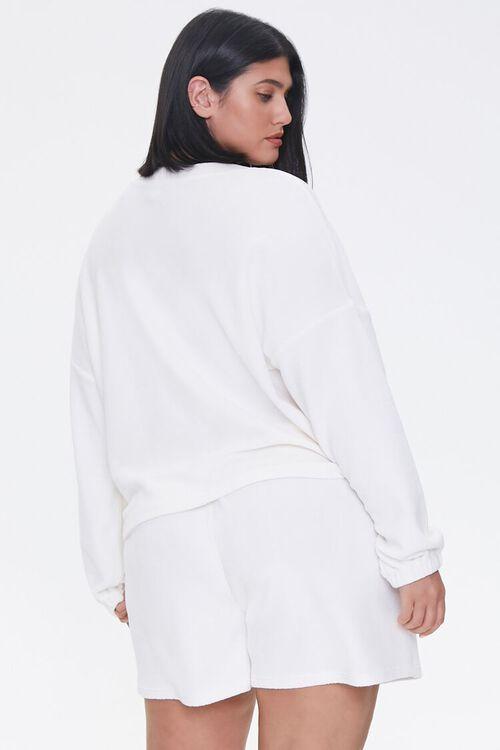 Plus Size Cardigan & Shorts Set, image 3