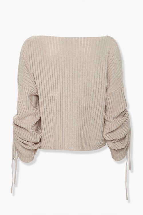 Shadow-Striped Drawstring Sweater, image 2