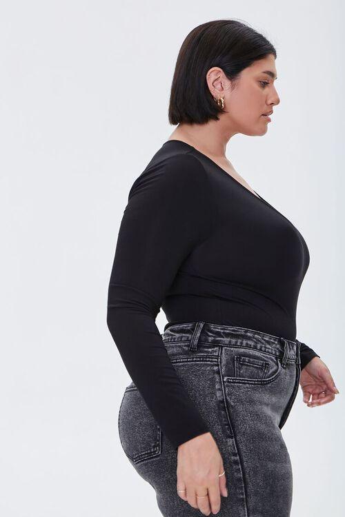 Plus Size Long-Sleeve Bodysuit, image 2
