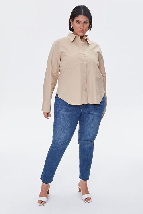 Plus Size Button-Up Shirt, image 4