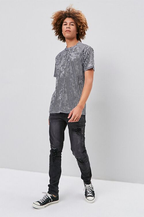 Velour Houndstooth Tee, image 4