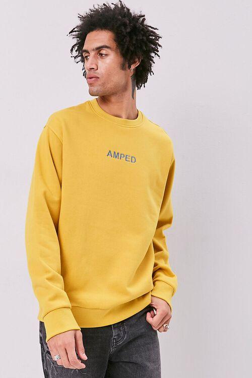 Amped Embroidered Graphic Fleece Sweatshirt, image 1