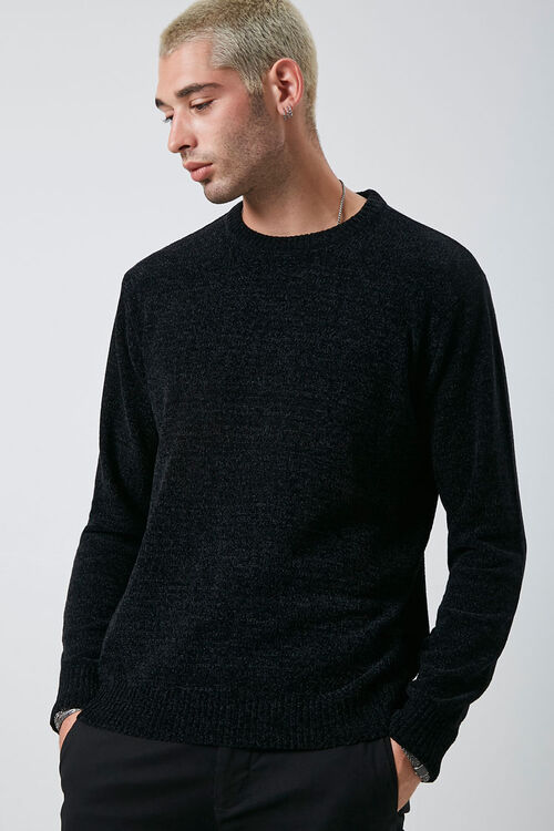 Chenille Crew Neck Sweater, image 1