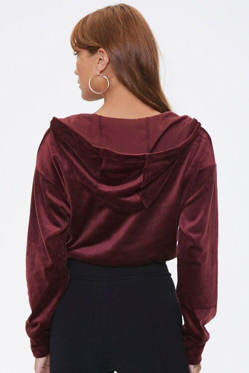 Cropped Velvet Half-Zip Hoodie, image 3