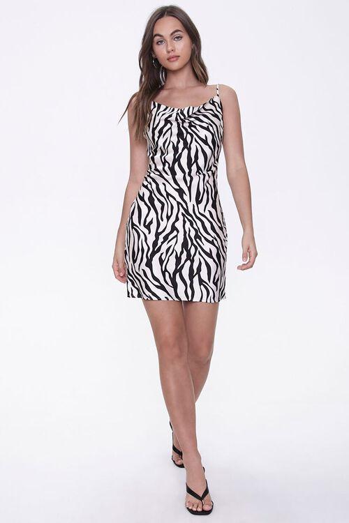 Tiger-Stripe Print Slip Dress, image 4