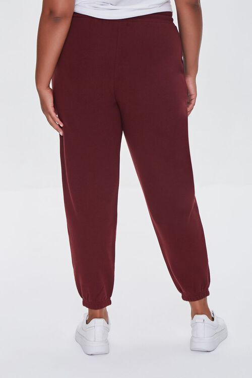 WINE Plus Size French Terry Joggers, image 4