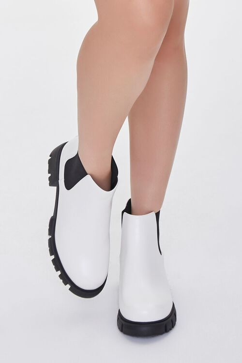 Faux Leather Chelsea Booties (Wide), image 4