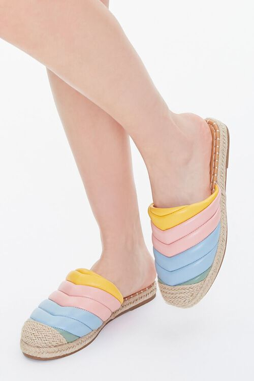 Quilted Rainbow Espadrille Flats, image 1
