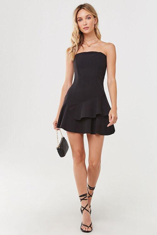 Flounce Hem Mini Dress, image 4