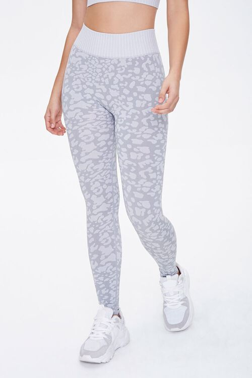 Active Seamless Spotted Print Leggings, image 2