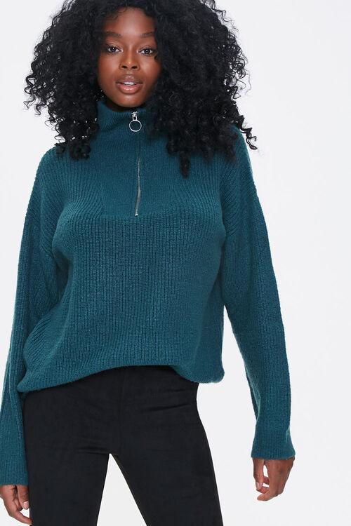 Half-Zip Pullover Sweater, image 1