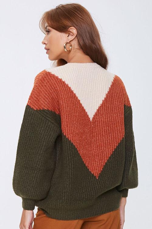 Colorblock Chevron Sweater, image 3