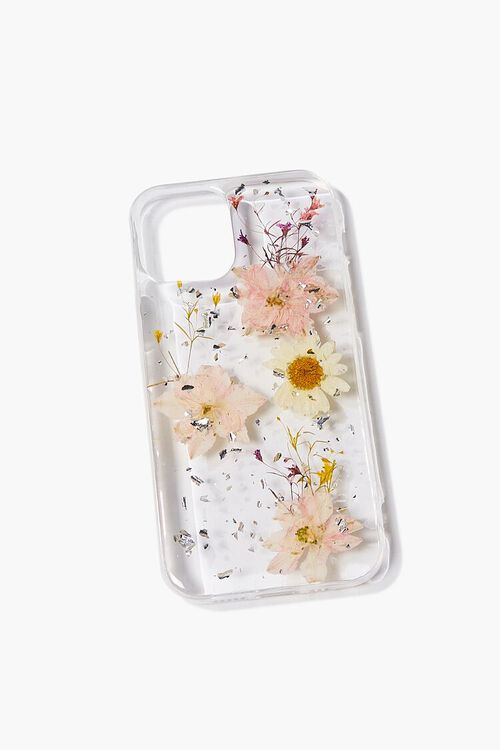 PINK/MULTI Pressed Flower Phone Case for iPhone 12, image 1