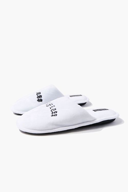 Men Say Less Embroidered Graphic Slippers, image 2