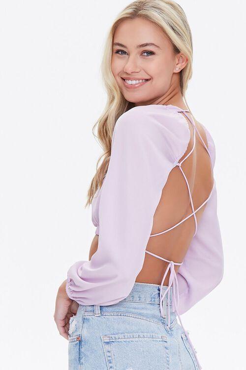 Lace-Back Crop Top, image 1