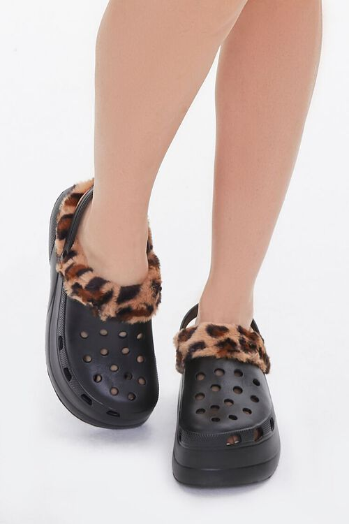 Leopard-Trim Perforated Wedges, image 4