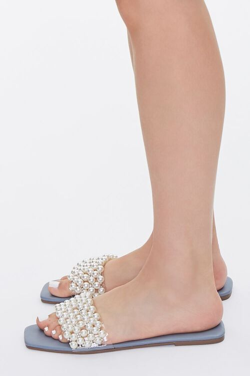Faux Pearl Slip-On Sandals, image 2