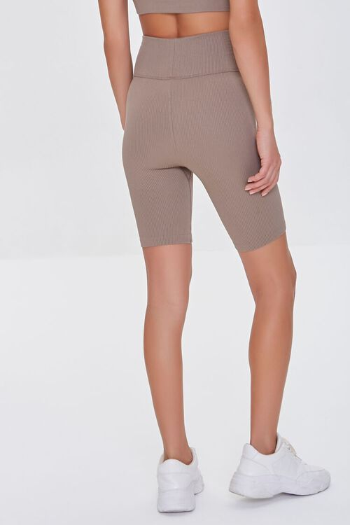 TAUPE Active Seamless Notched Biker Shorts, image 4