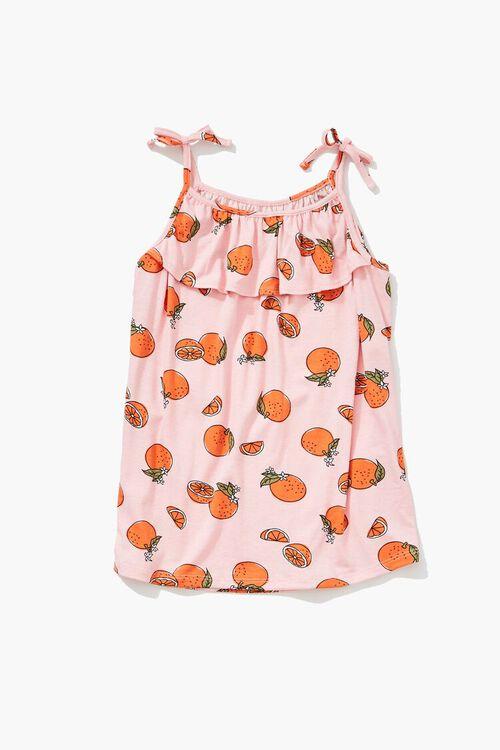 Girls Orange Print Cami (Kids), image 1