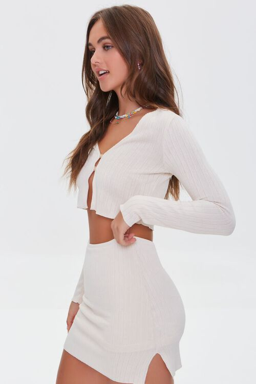 Ribbed Crop Top & Mini Skirt Set, image 2
