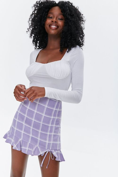 Plaid Flounce Mini Skirt, image 1