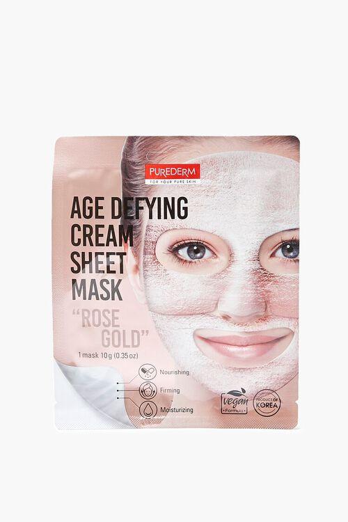 ROSE GOLD Age Defying Cream Sheet Mask, image 1