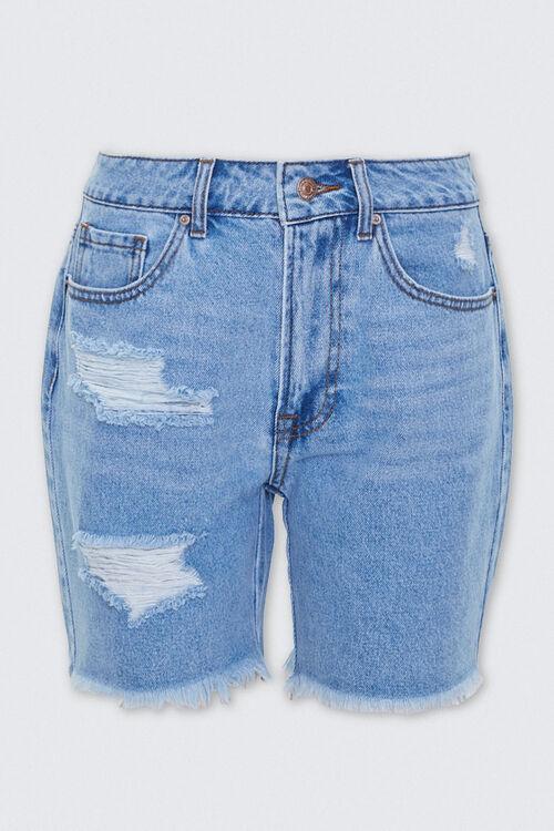 Distressed Denim Mom Shorts, image 1