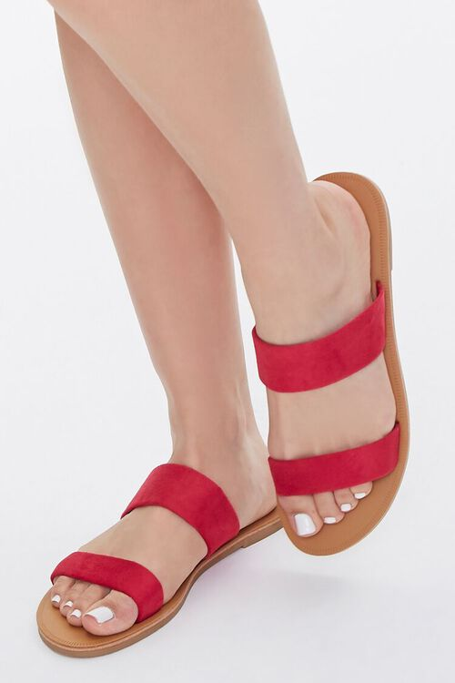 Faux Suede Strapped Sandals, image 1