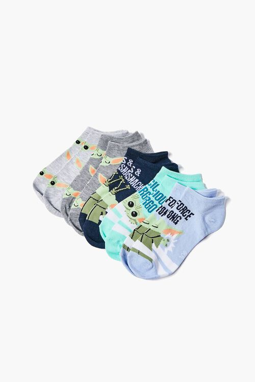 Baby Yoda Graphic Ankle Socks - 3 Pack, image 2