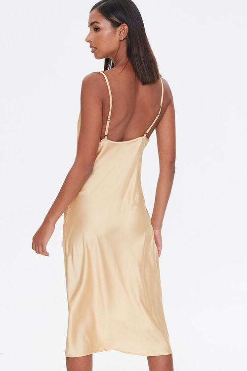 Satin Cowl Slip Dress, image 3
