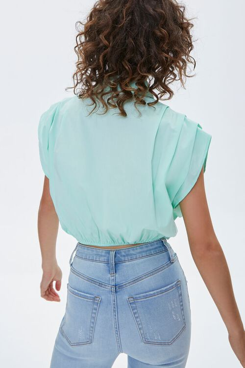 Cropped Button-Up Shirt, image 3