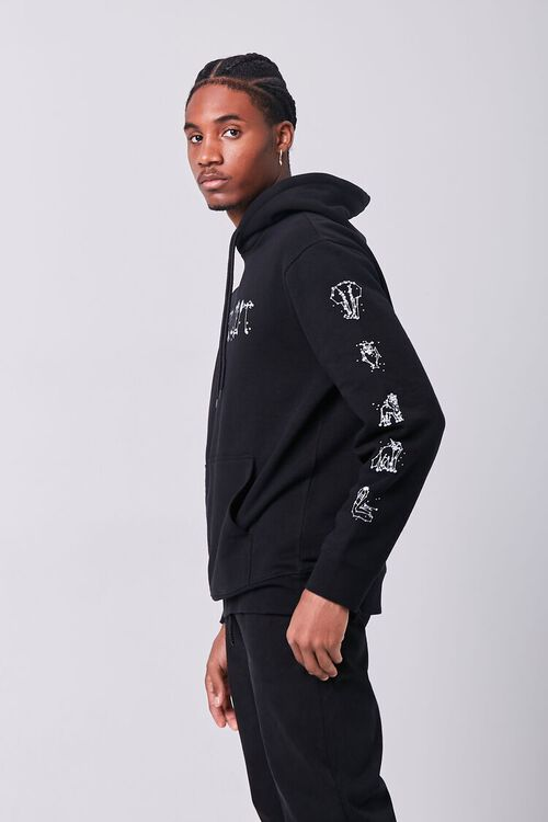 BLACK/WHITE Spaced Out Graphic Hoodie, image 2