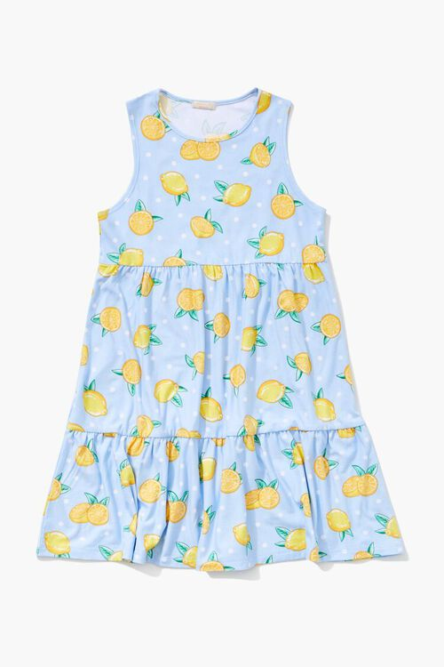 Girls Lemon Print Dress (Kids), image 1
