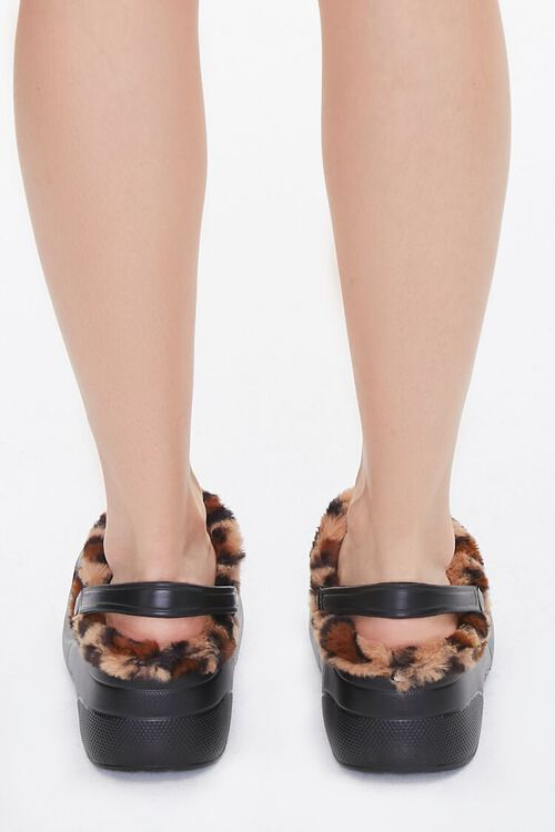 Leopard-Trim Perforated Wedges, image 3