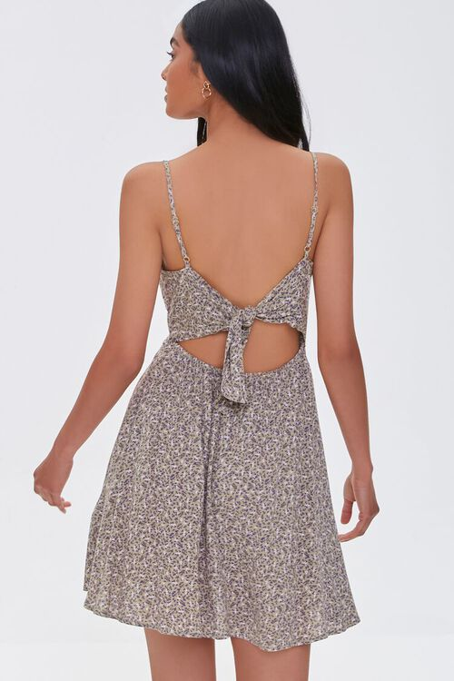 Abstract Print Cutout Mini Dress, image 3