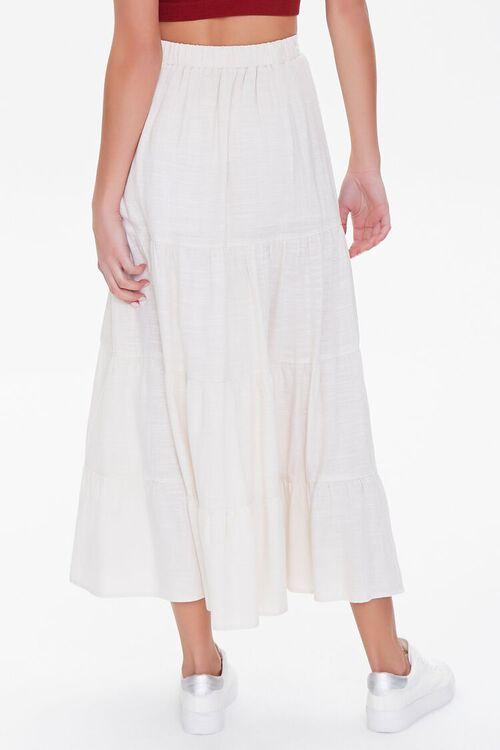 Tiered Linen-Blend Midi Skirt, image 4